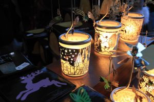 Kerzenlicht auf der Winterveranstaltung