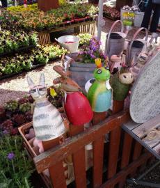 Traditioneller Gartenmarkt der Gartenführer
