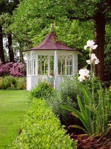 So einen Pavillon finden Sie auch auf der ein oder anderen Gartenveranstaltung...
