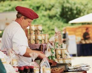 Delikatessen auf der Gartenveranstaltung in Hannover