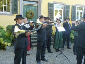 Hornmusik auf der BoGart Schloss Bollschweil