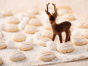 Schneeflöckchen: Diese Plätzchen sind zuckersüß. © Sanella.de